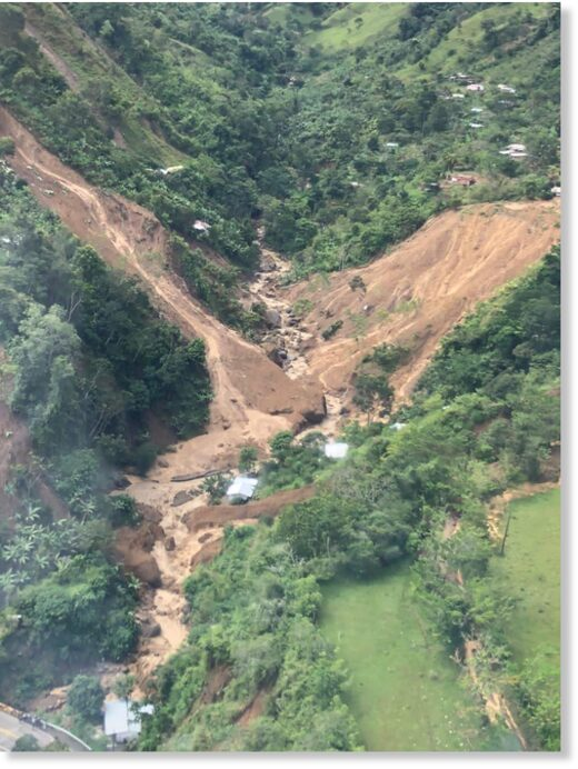 Landslide in Dabeiba, Antioquia, Colombia, November 2020