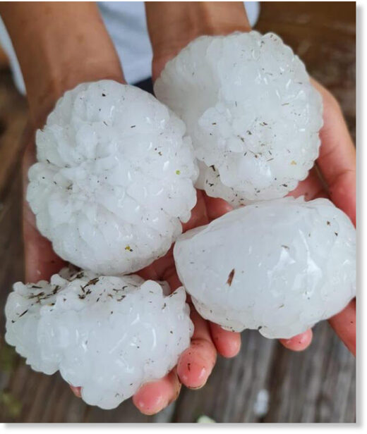 Hailstones as large as tennis balls battered Pietermaritzburg on Wednesday afternoon.