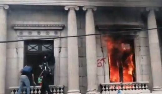 Guatemala burning Congress