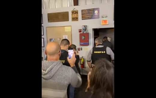 Protest in NY gym