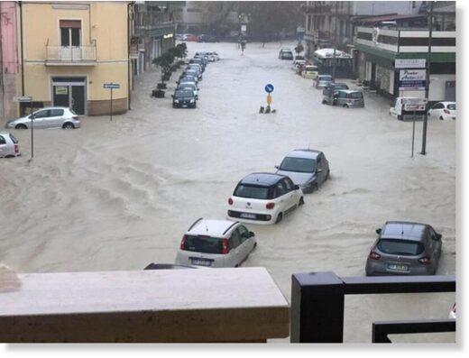 Floods in Crotone, Calabria, Italy, November 2020.