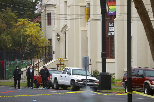church stabbing california