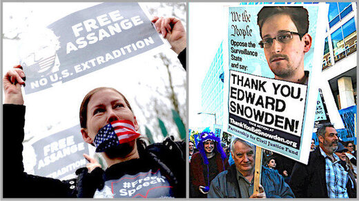 Assange/Snowden supporters
