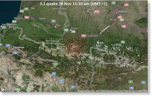 3.1 quake 28 Nov 11:10 am (GMT +1)