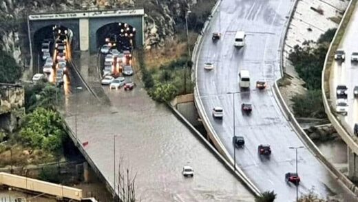 Streets engulfed as Lebanon hit by torrential rains - highways transformed into flowing rivers