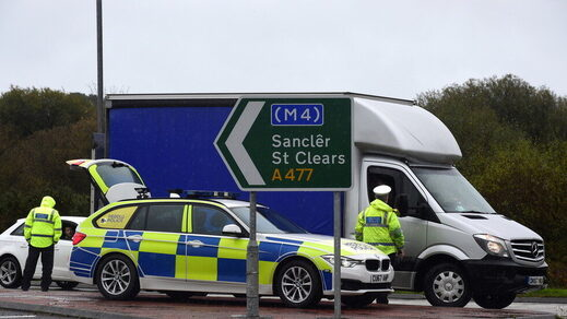 police check point Britain