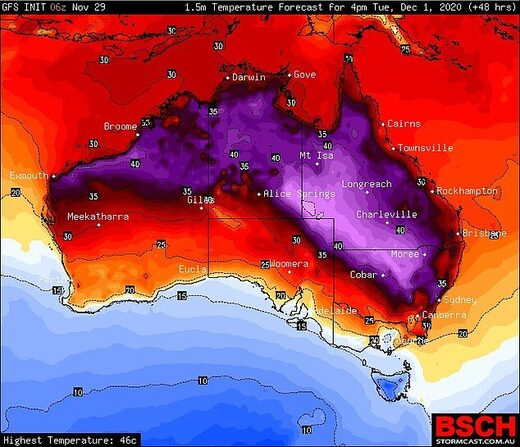 Temperature extremes: Severe fire danger for Australia as November high temperatures smash records