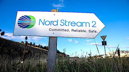 Nord Stream 2 sign