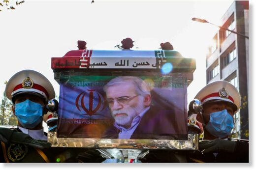 coffin of Iranian nuclear scientist Mohsen Fakhrizadeh