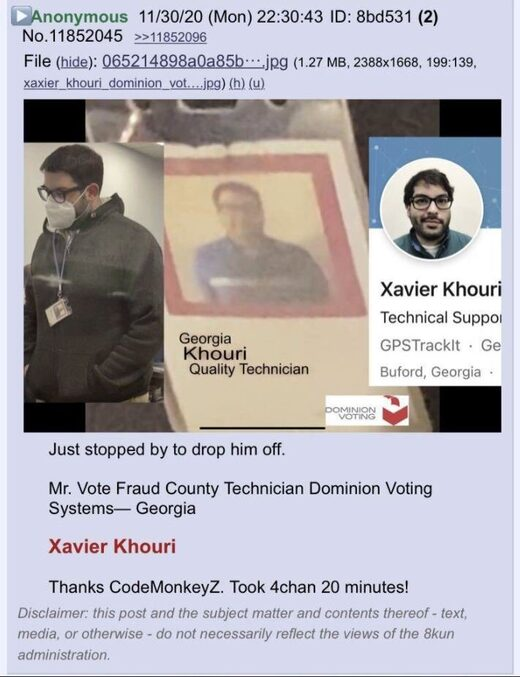 Xavier Khouri dominion vote fraud georgia