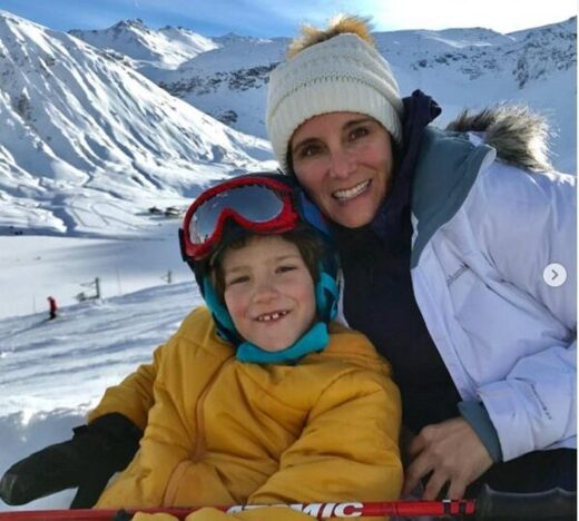 Brandy Vaughan and her son