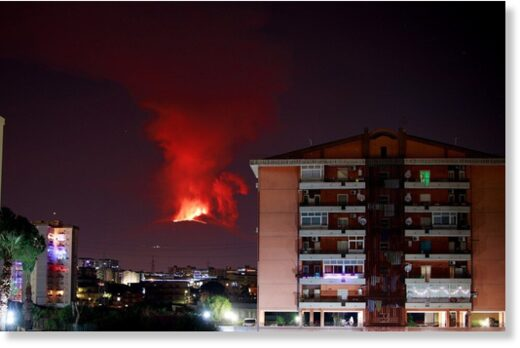 Mount Etna has erupted for a second time