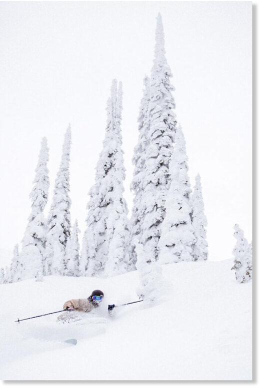 Dylan Siggers having a fun time in Fernie, BC on Dec 20