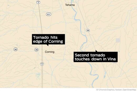 Two tornadoes touch down in Tehama County