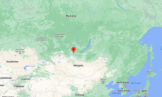Mongolia quake map