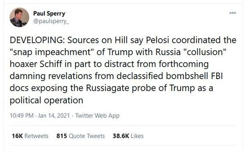 russiagate release impeachment timing