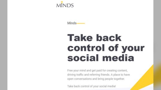 Minds.com screenshot