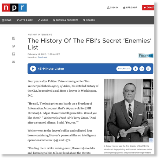 FBI's secret enemies