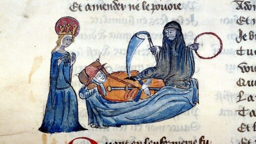 illuminated manuscript death dying middle ages
