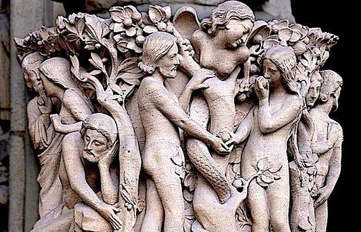 Adam Eve statue