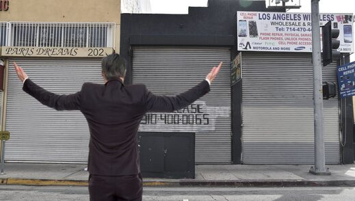 newsom shouts at abandoned buildings
