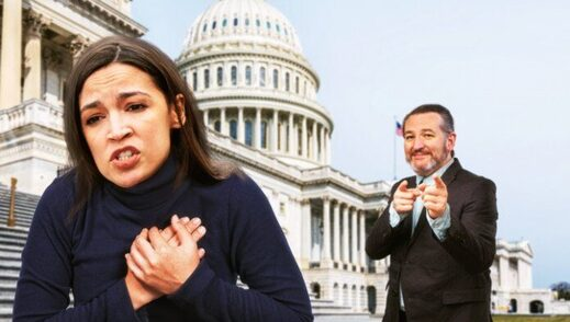 AOC occasio cortez ted cruz finger guns