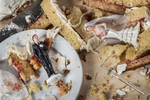 Ruined wedding cake