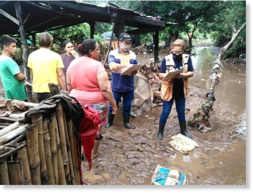 Teams from SEN assessing flood damage in Cordillera