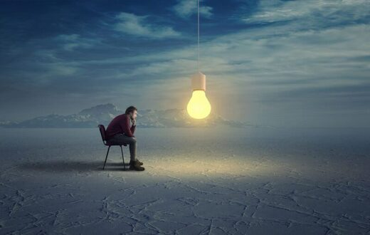 thinking man ideas creativity light bulb inspiration