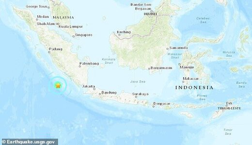 Indonesia quake map