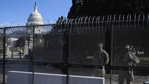 capitol building razor wire fence