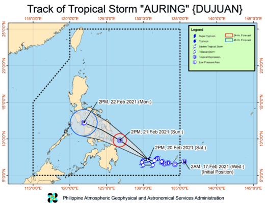 Philippines storm Dujuan path