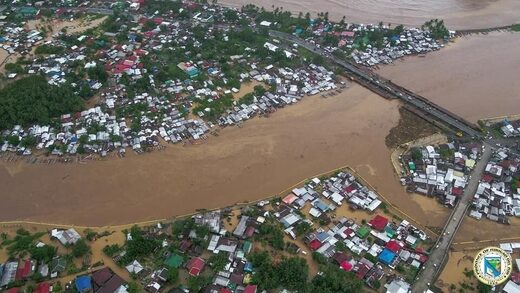 Tropical Storm Auring Dujuan Philippines flooding