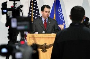 scott walker madison protest