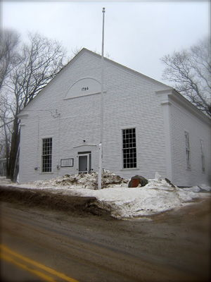 Town hall in Sedgwick, Maine