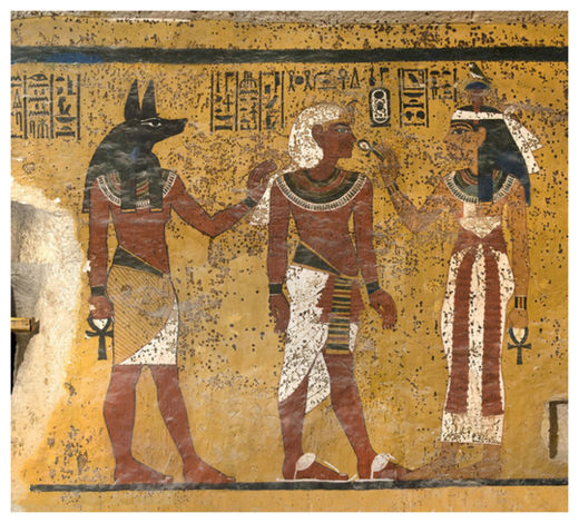 Wall in Tutankhamen's Tomb