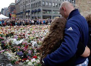 mourners attack Norway