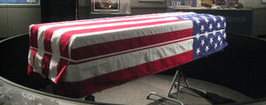 army coffin flag