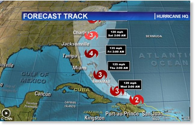 Its getting stronger Hurricane Irene upgraded to Category 2 as