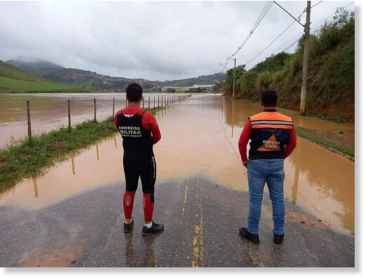 Floods in Minas Gerais, Brazil, late February 2021