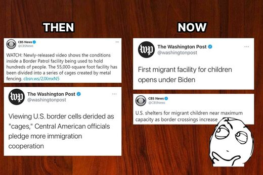 kids in cages then vs now
