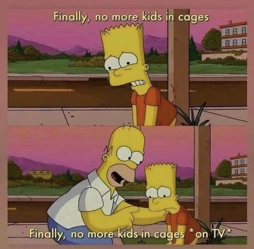 simpsons meme kids in cages