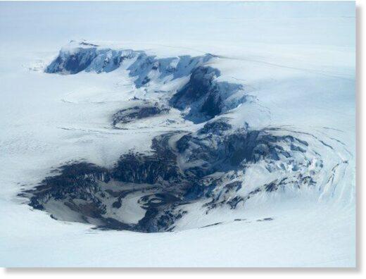 Grímsvötn Volcano is a subglacial volcano situated near the centre of the Vatnajokull ice cap.