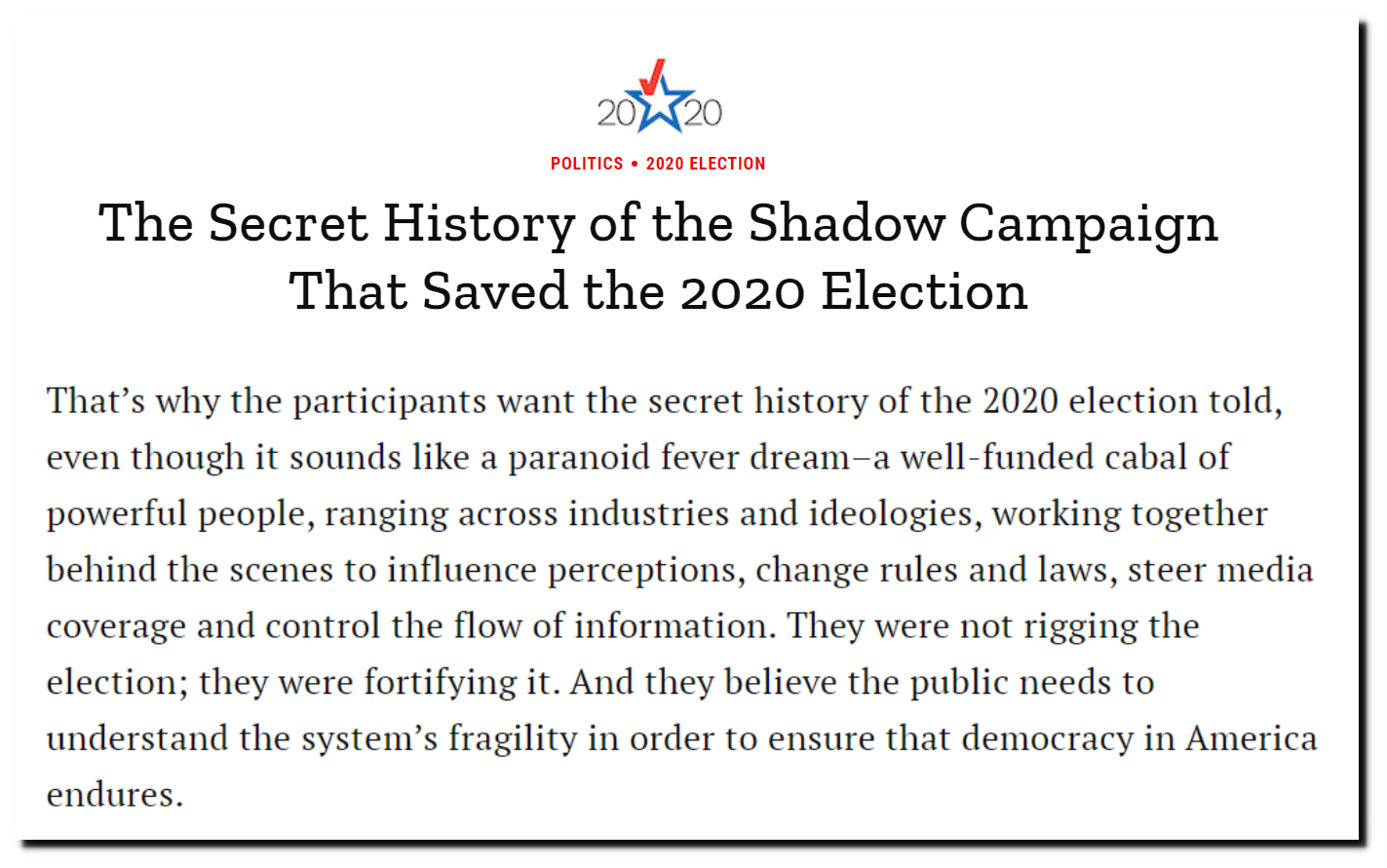 How the 2020 US election was hacked