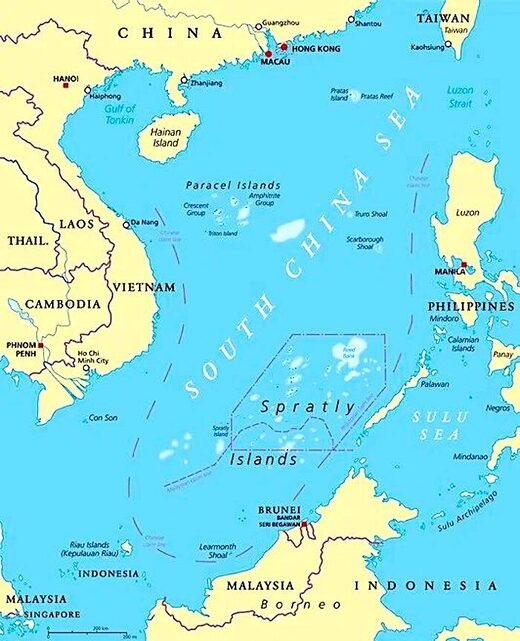 S. China Sea map