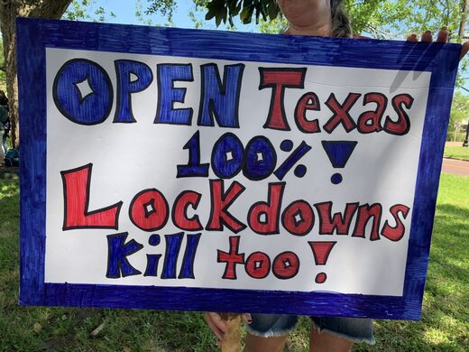 texas lockdown protest