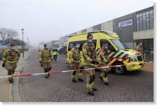 Explosion damages COVID-19 testing centre in the Netherlands