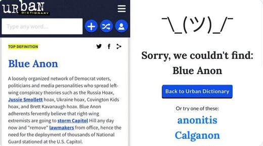 Urban dictionary censor blue anon