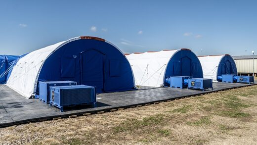 medical tents migrant camp CDC carrizo texas