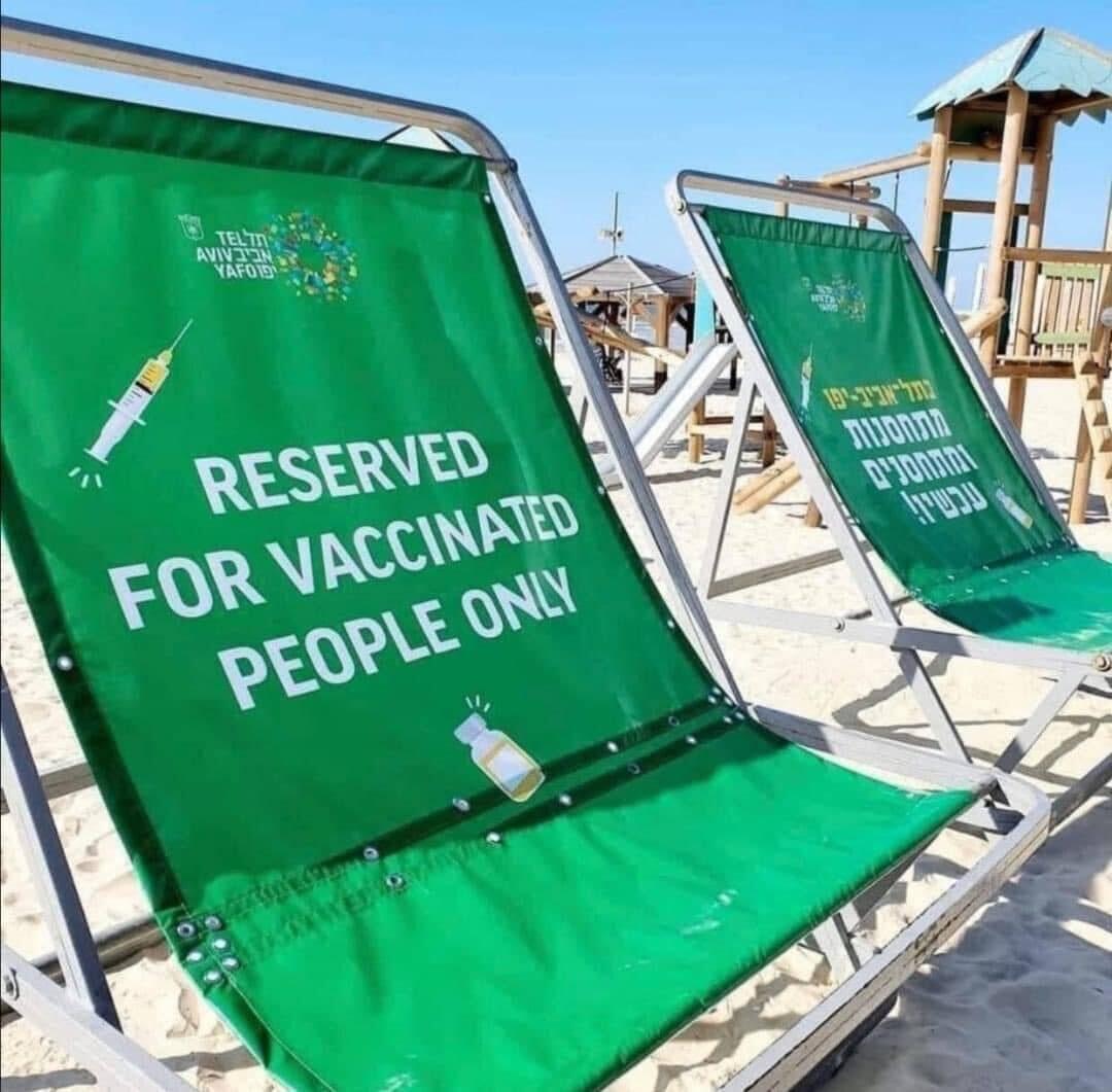 Vaccin Israël : plainte pour violation du code de Nuremberg. Israel_green_pass